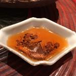 日本料理 つるま - お造りのお醤油 お皿が洒落てます