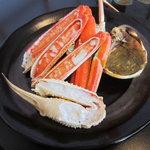 お食事処日本海 - 松葉カニ御膳の焼きカニ