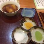 天仁 - 塩3種、レモン汁、おろし