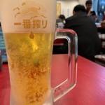 大阪王将 - おビール、420円