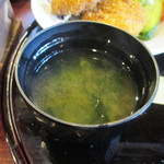 根津 みるくの豚 - 味噌汁