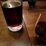 ヴェネツィア酒場 Ombra - 樽ワイン赤を瓶(500ml)で