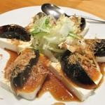 餃子王 - ピータン豆腐。      2019.03.19