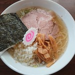 麺屋 不動 - 料理写真:鶏煮干し塩ラーメン大盛750円+100円