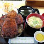 めし処円 - ソースカツ丼セット大盛り