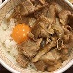すき家 - 豚生姜焼き朝食を豚生姜焼き丼にしました。