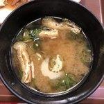 すき家 - 豚生姜焼き朝食の味噌汁