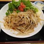 串焼き本舗 - ランチ  生姜焼き定食  750円