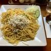 五線紙 - 料理写真:たくわんとしらすのスパゲッティ(780円)
