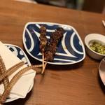 う成ル - 鰻肝、牡蠣蒲焼き