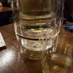 ヴェネツィア酒場 Ombra - 樽ワイン白を瓶(500ml)で
