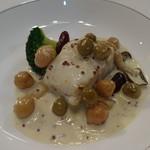 104296830 - 白身魚のフリカッセ マスタード風味
