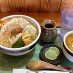 盛喜 - 天丼セット(ミニカレーうどん)
