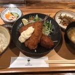 橋の湯食堂 - ミックスフライ定食