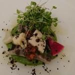 104307612 - 鮮魚のカルパッチョ サラダ仕立て