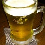 10431233 - とりあえずビール♪ プレミアム生@550円。