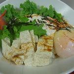 豆腐茶屋がんこ - おぼろ豆腐、温玉のおさしみ湯葉丼