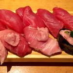 板前寿司  - まぐろ握りセット