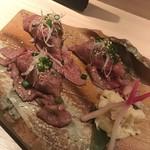 104321673 - 肉寿司のお肉は、ふわふわです!