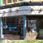 CAFE GITANE - 植え込みの前が工事中