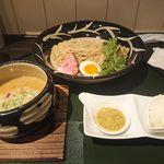 104325852 - 麦味噌鶏白湯つけ麺~浜名湖産カキのペースト添え~