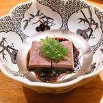 東京肉しゃぶ家 - 牛タンの冷采葱ソース