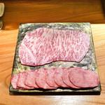 東京肉しゃぶ家 - 太田牛サーロイン、タンしゃぶしゃぶ