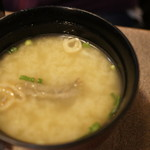うなぎの末よし - 肝入りの味噌汁