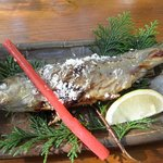 昇仙峡 金渓館 - 岩魚の塩焼き