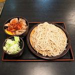 ゆで太郎 - もりミニ豚丼セット