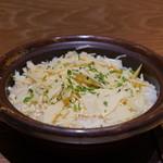 日本料理 e. - 筍の炊き込みご飯