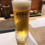 やきとり 花むら - 生ビール