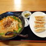中華料理 濃河 - 濃河ラーメンと餃子のセット
