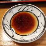 中華料理 濃河 - 餃子のタレ