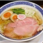 サバ6製麺所 - サバ塩そば+ 味玉  750+100円 すごくさっぱりした仕上がりです。