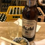 酒場 ふくろ - 瓶ビール(大)+お通し