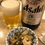 酒場 ふくろ - 便ビール(大)+お通し