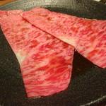 104346216 - サーロインのヤンニョムすき焼き