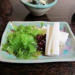水月庵 - 酢の物は海草等を使ってとってもヘルシーです