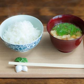 美味しいご飯とお味噌汁