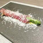 神戸牛炉窯焼ステーキ 雪月風花 北野坂 - アスパラガスのミラノ風