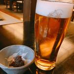 かんだやぶそば - エビスビール 生ビール 580円 自家製ねり味噌