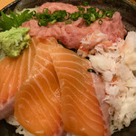 ITAMAE SUSHI - ランチ豪華三色丼大盛サービス980円税込
