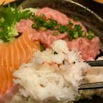 ITAMAE SUSHI - 何も付けずにズワイ蟹ほぐし身から頂く