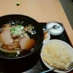 福臨門 - 醤油ラーメン + 半チャーハン