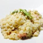 トラウベ - もち麦とアスパラガスのリゾット