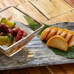 FAMILIAR - 長芋のたまり漬けと酢の物