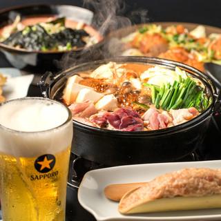 2H飲み放題付『鶏ちゃんこ旨辛鍋コース』又は『鶏すきコース』