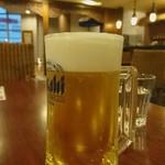 リブール - ドリンク写真:本日、無料サービスの「生ビール」