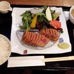 焼屋 あおな - 牛カツ定食@1480